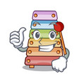 thumbs up toy xylophone on cartoon childrens vector image