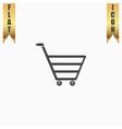 trolley market flat icon vector image