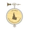 Vintage label Idaho vector image vector image