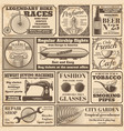 vintage newspaper banners and advertising labels vector image vector image