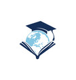world education logo design template vector image