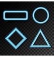 Set of neon figures vector image