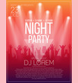 dance party flyer or poster design template night vector image