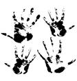 Hand print skin texture pattern vector image