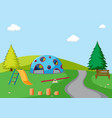 a simple playground scene vector image vector image