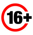 a sixteen years over icon vector image vector image