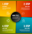 abstract infographic template with 4 steps vector image vector image