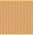 abstract retro zig zag seamless pattern vector image vector image