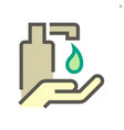 alcohol gel and hands washing icon design 64x64