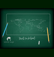 back to school background and world maps vector image vector image