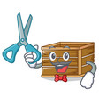 barber crate character cartoon style vector image vector image