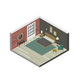 Bedroom in isometric view