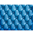 Blue button-tufted leather background vector image vector image