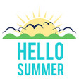 blue hello summer sun cloud background imag vector image vector image
