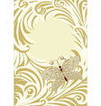 butterfly frame card vector image vector image