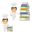chef with books vector image vector image