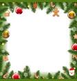 christmas border xmas postcard white background vector image vector image