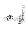 christmas gift basket ideas theme your holiday vector image vector image