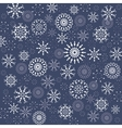 Christmas pattern Winter theme texture Snowflake vector image vector image