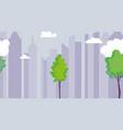 cityscape urban architecture trees sky vector image