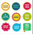 collection colorful promo stickers and badges vector image vector image
