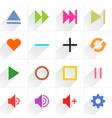 Color media control sign flat icon vector image vector image
