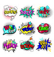 comic book texts speech bubbles vector image