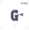 Creative G letter icon abstract logo design vector image