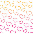 degraded line art heart graphic shape background vector image vector image