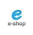 e shop design template vector image vector image