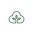 eco cloud plant nature symbol web icon logo vector image