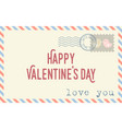 envelope with text happy valentine day vector image