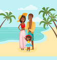 family vacation flat vector image vector image