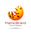 Fire Flame Logo design template Burn vector image vector image