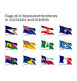 flags dependent territories australia and oceania vector image