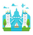 flat design tower bridge london vector image
