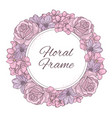 floral frame wedding wreath vector image