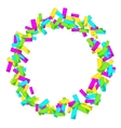 Frame with colourful sparlking confetti Bright vector image vector image