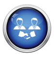 Hand shake icon vector image vector image