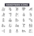 handyman line icons for web and mobile design vector image vector image