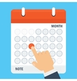 important date in calendar vector image vector image
