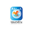 laundry logo templates or wash service room vector image