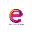 letter e gradient color technology logo vector image vector image