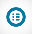 list bold blue border circle icon vector image vector image