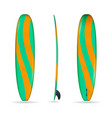 longboard with three sides vector image vector image