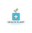 medical health plant sprout leaf logo icon vector image vector image