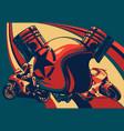 motorcycle helmet icon motorbike vector image vector image