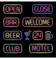neon signs vector image