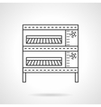 Oven for buns flat line icon vector image vector image