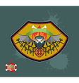 paintball emblem club Wings of fire and paintball vector image vector image